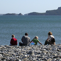 Amroth Family on Beach