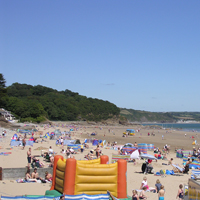 Saundersfoot Busy Beach